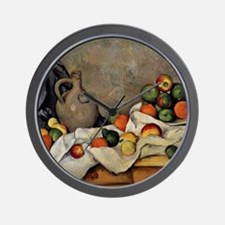 Cezanne - Curtain, Jug and Fruit Wall Clock
