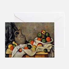 Cezanne - Curtain, Jug and Fruit Greeting Card