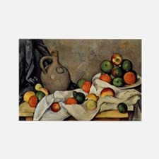 Cezanne - Curtain, Jug and Fruit Rectangle Magnet