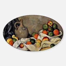Cezanne - Curtain, Jug and Fruit Sticker (Oval)