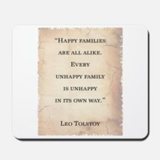 LEO TOLSTOY QUOTE Mousepad