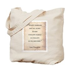 LEO TOLSTOY QUOTE Tote Bag