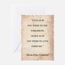 MAHATMA GANDHI QUOTE Greeting Card