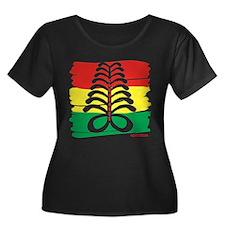 Aya Plus Size Scoop Neck T-Shirt