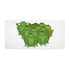 Funky Frogs Beach Towel