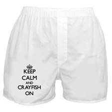 Keep Calm and Crayfish ON Boxer Shorts