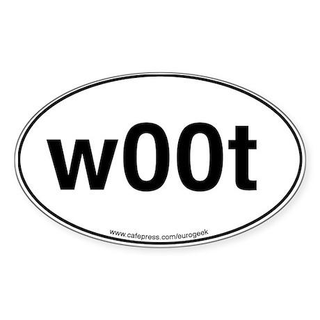 w00t Eurogeek Oval Sticker