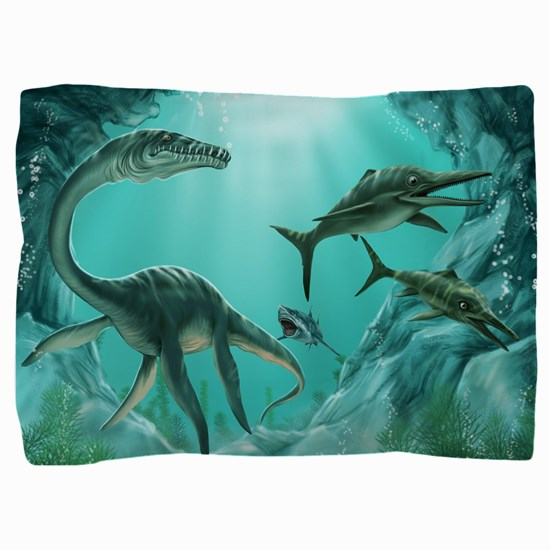Underwater Dinosaur Pillow Sham