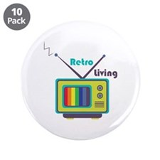 "Retro Living 3.5"" Button (10 pack)"