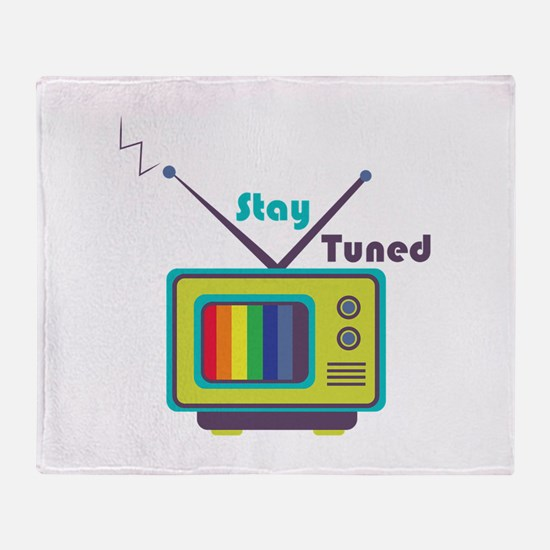 Stay Tuned Throw Blanket