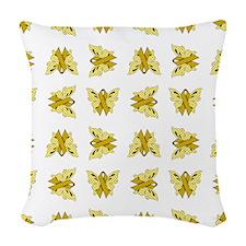 YELLOW RIBBON Woven Throw Pillow