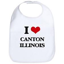I love Canton Illinois Bib