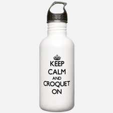 Keep Calm and Croquet Water Bottle