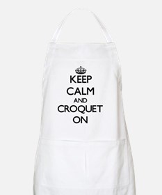 Keep Calm and Croquet ON Apron