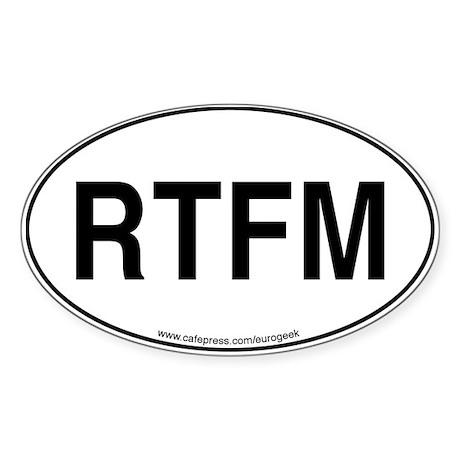 RTFM Eurogeek Oval Sticker