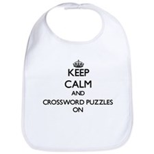 Keep Calm and Crossword Puzzles ON Bib