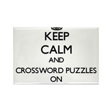 Keep Calm and Crossword Puzzles ON Magnets