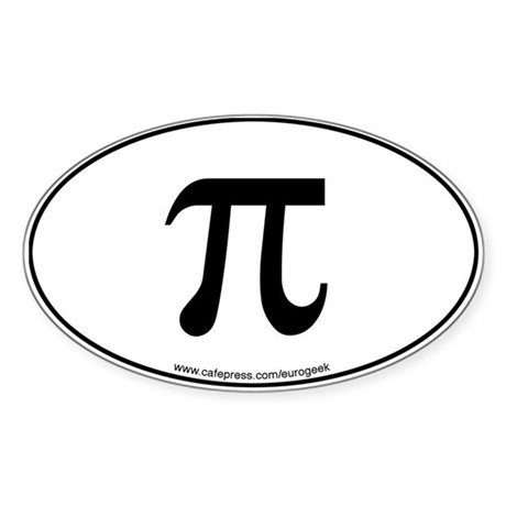 Pi Eurogeek Oval Sticker