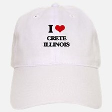 I love Crete Illinois Baseball Baseball Cap