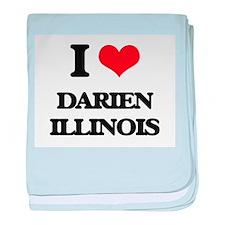 I love Darien Illinois baby blanket