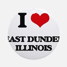 I love East Dundee Illinois Ornament (Round)