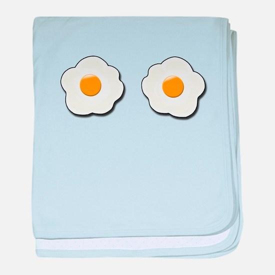 Fried Eggs baby blanket