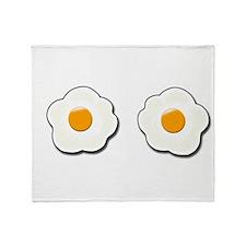 Fried Eggs Throw Blanket