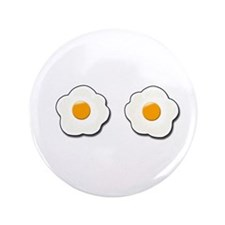 """Fried Eggs 3.5"""" Button"""
