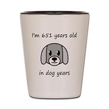 93 dog years 2 Shot Glass