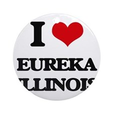 I love Eureka Illinois Ornament (Round)