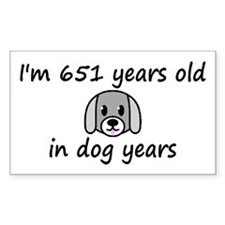93 dog years 2 - 3 Decal