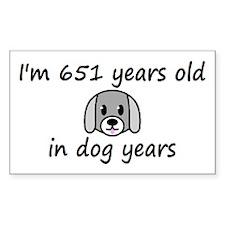 93 dog years 2 - 3 Decal