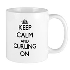 Keep Calm and Curling ON Mugs