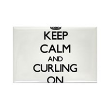 Keep Calm and Curling ON Magnets
