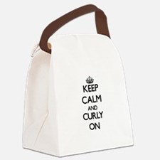 Keep Calm and Curly ON Canvas Lunch Bag