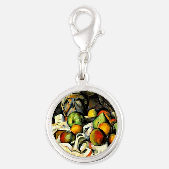 Cezanne - Ginger Jar and Fruit Silver Round Charm