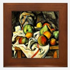 Cezanne - Ginger Jar and Fruit Framed Tile
