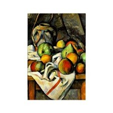 Cezanne - Ginger Jar and Fruit Rectangle Magnet
