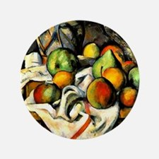 """Cezanne - Ginger Jar and Fruit 3.5"""" Button"""