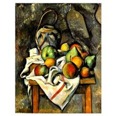 Cezanne - Ginger Jar and Fruit Poster
