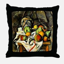 Cezanne - Ginger Jar and Fruit Throw Pillow