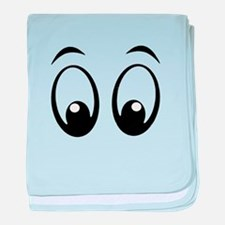 Cartoon Eyes baby blanket