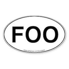 Foo Eurogeek Oval Decal