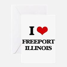 I love Freeport Illinois Greeting Cards