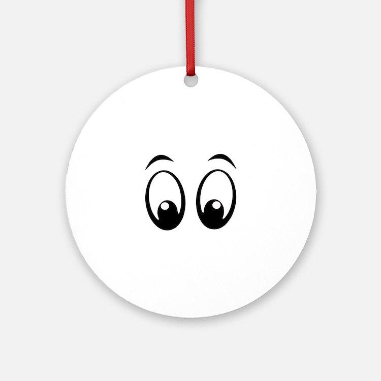 Cartoon Eyes Ornament (Round)