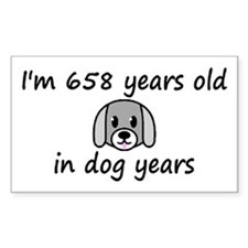 94 dog years 2 - 3 Decal