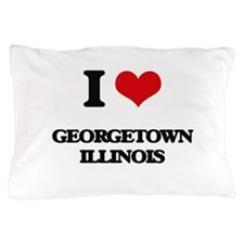 I love Georgetown Illinois Pillow Case