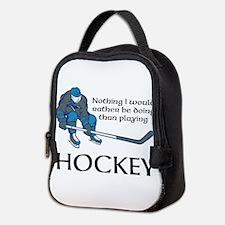 Playing Hockey Neoprene Lunch Bag