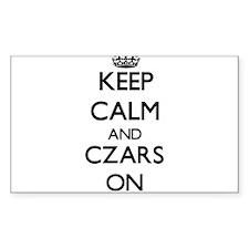 Keep Calm and Czars ON Decal