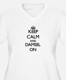Keep Calm and Damsel ON Plus Size T-Shirt